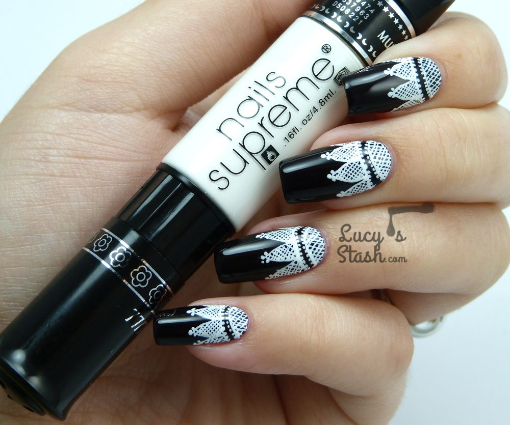 Goth Lace Nail Art feat. CND Dark Dahlia - Lucy\'s Stash