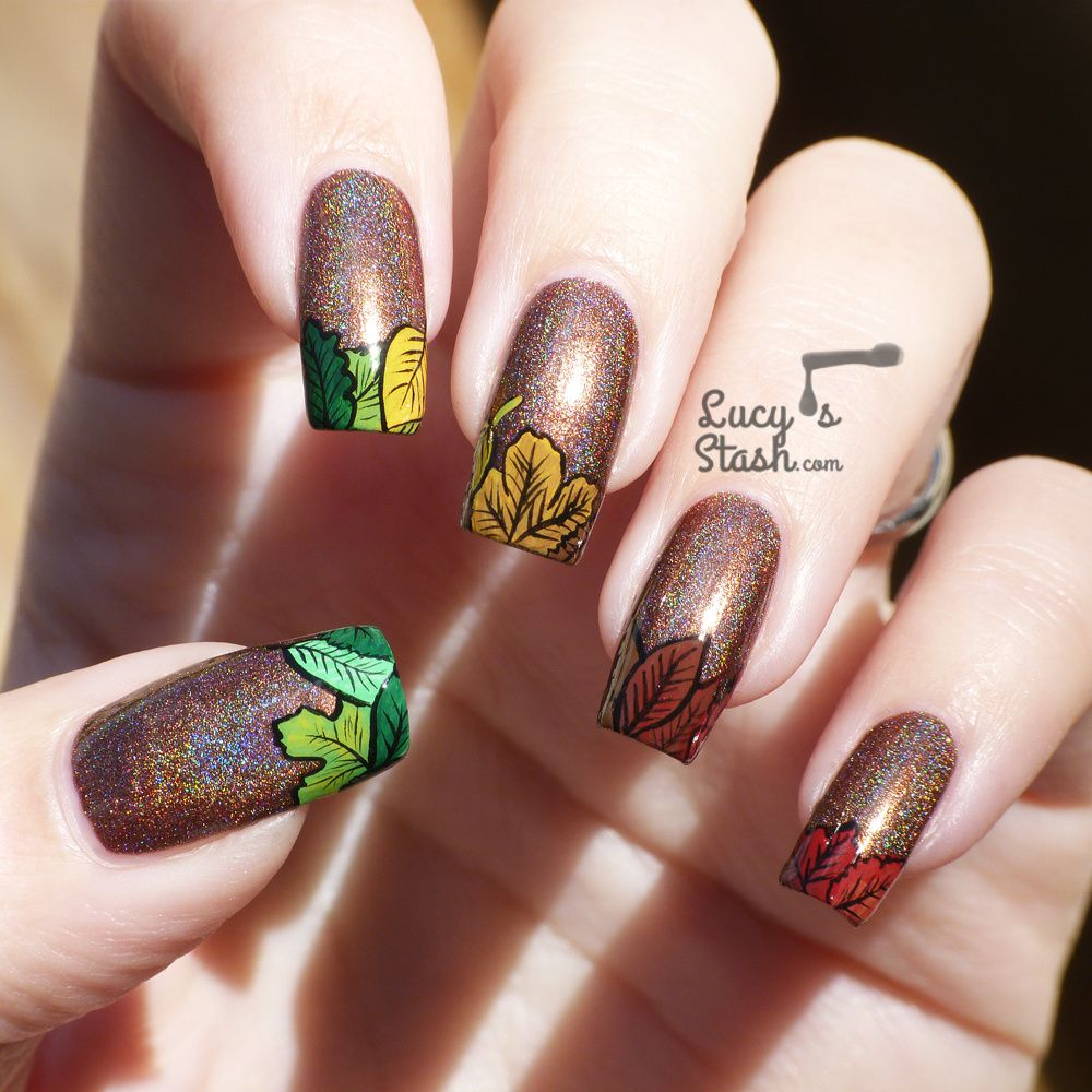Thatleanne Firey Autumn Leaves Nail Art: Last Autumn Nail Art Of The Year
