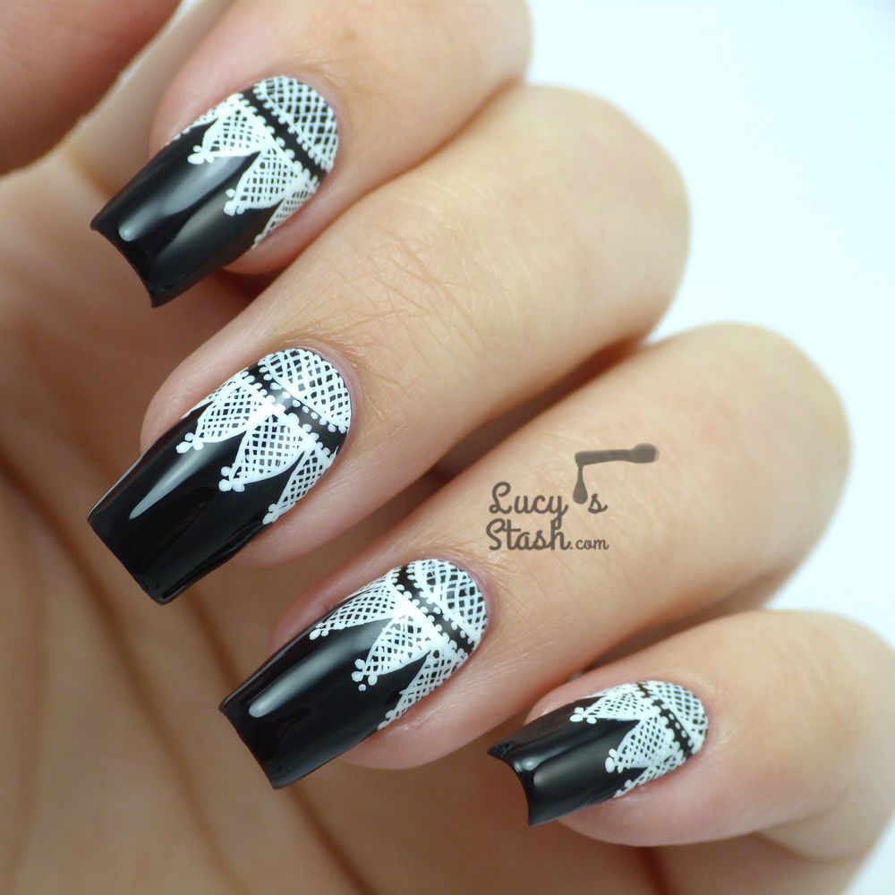 Pics Of Nail Art: Goth Lace Nail Art Feat. CND Dark Dahlia