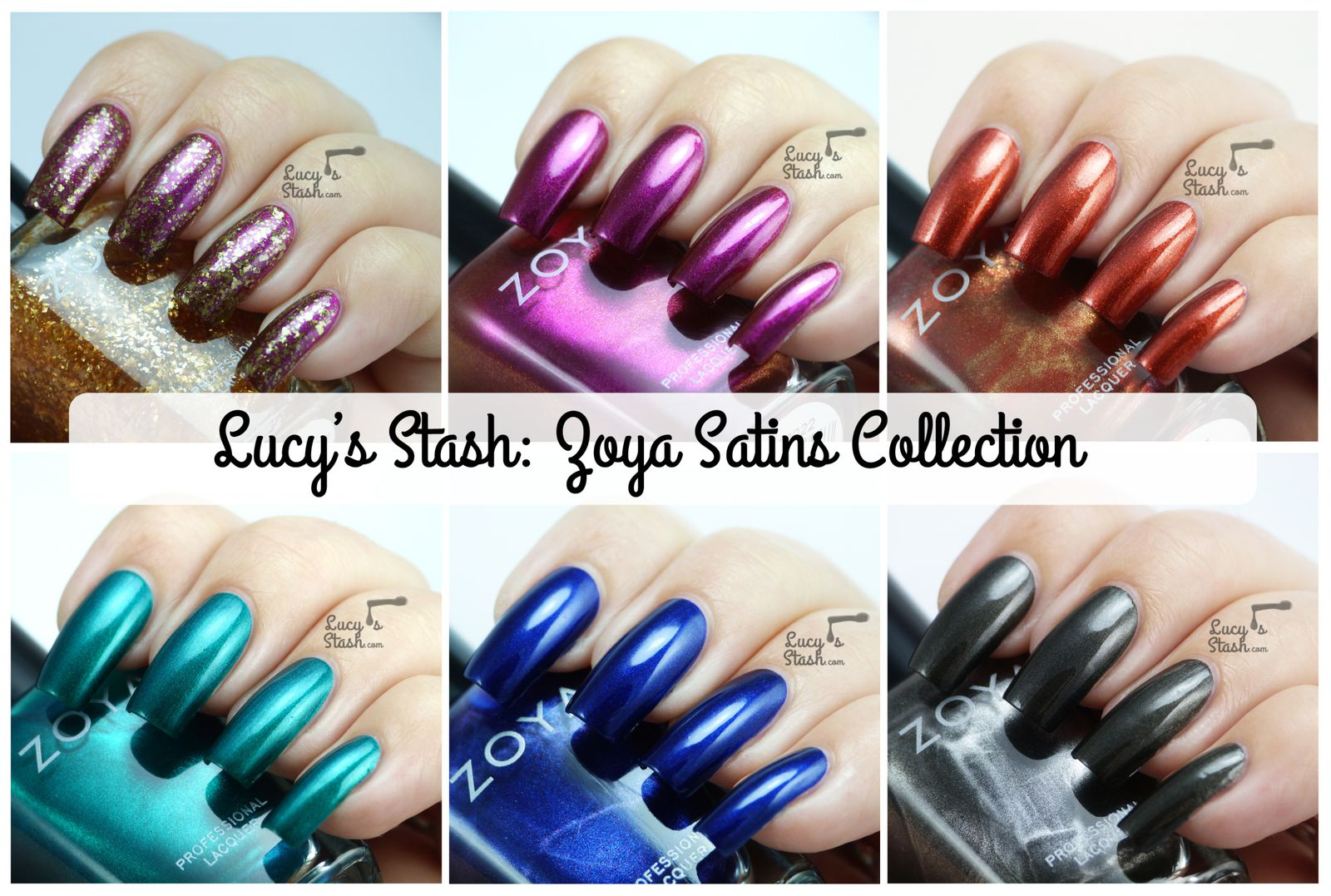 Zoya Satins Collection for Fall 2013 - Review and swatches
