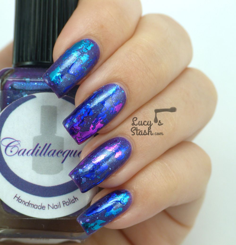 Abstract nail foil design feat cadillacquer lucys stash abstract nail foil design prinsesfo Images