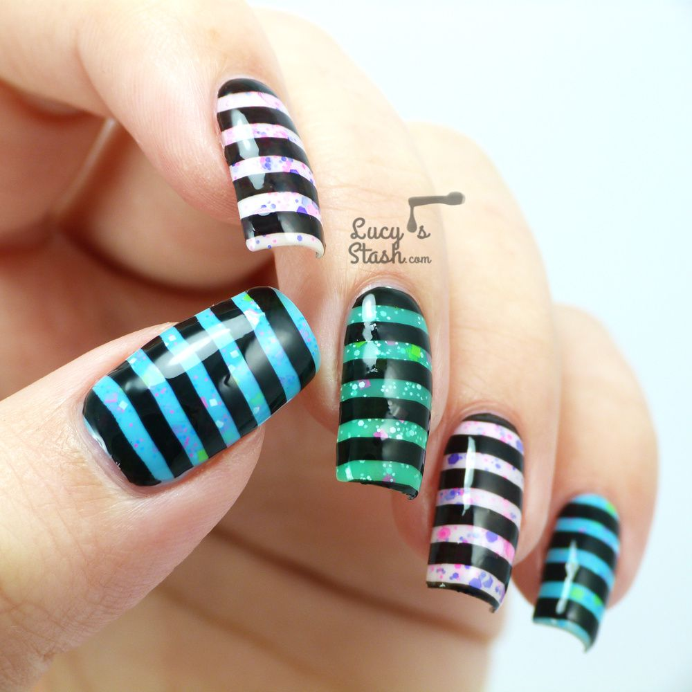 Stripes? Stamping? Neon Glitter? UV Glowing?....All of it ...