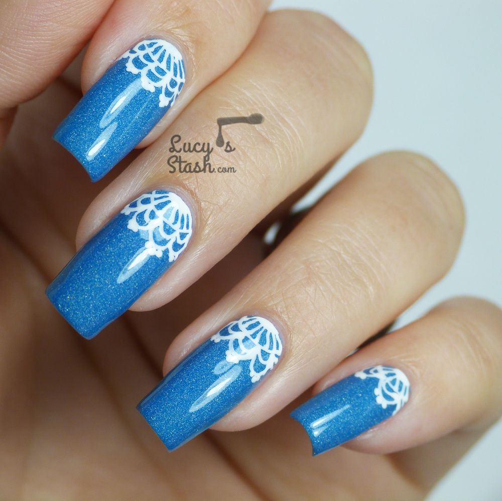 Lace Half Moon Nail Art feat. Nails Supreme Nail Art Pens
