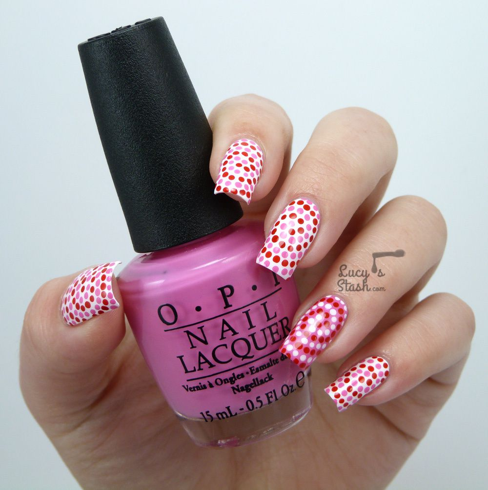 Dotted Swirls Nails - Valentine's Day edition with TUTORIAL