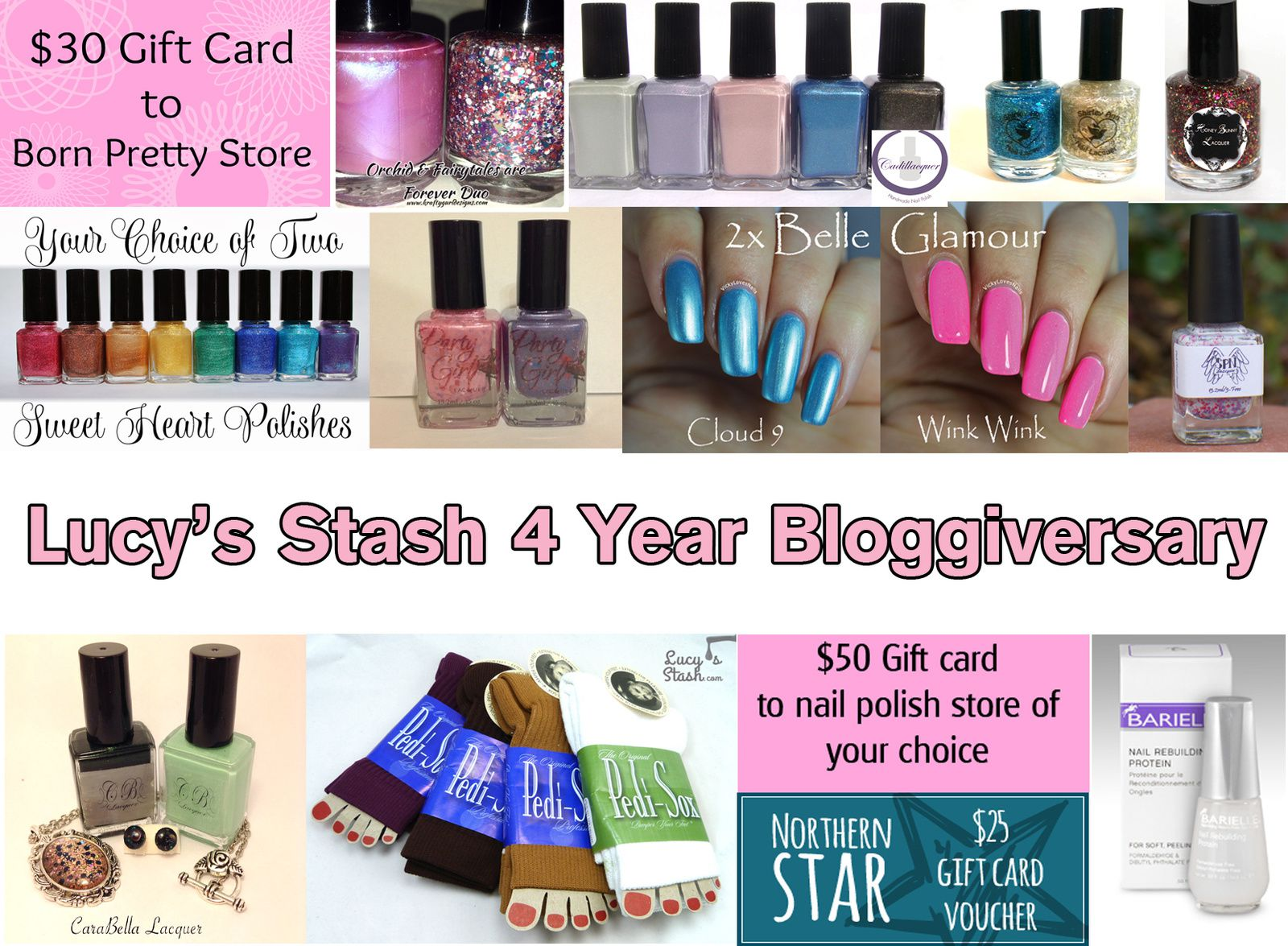 4 Year Bloggiversary GIVEAWAY with 18 Winners!