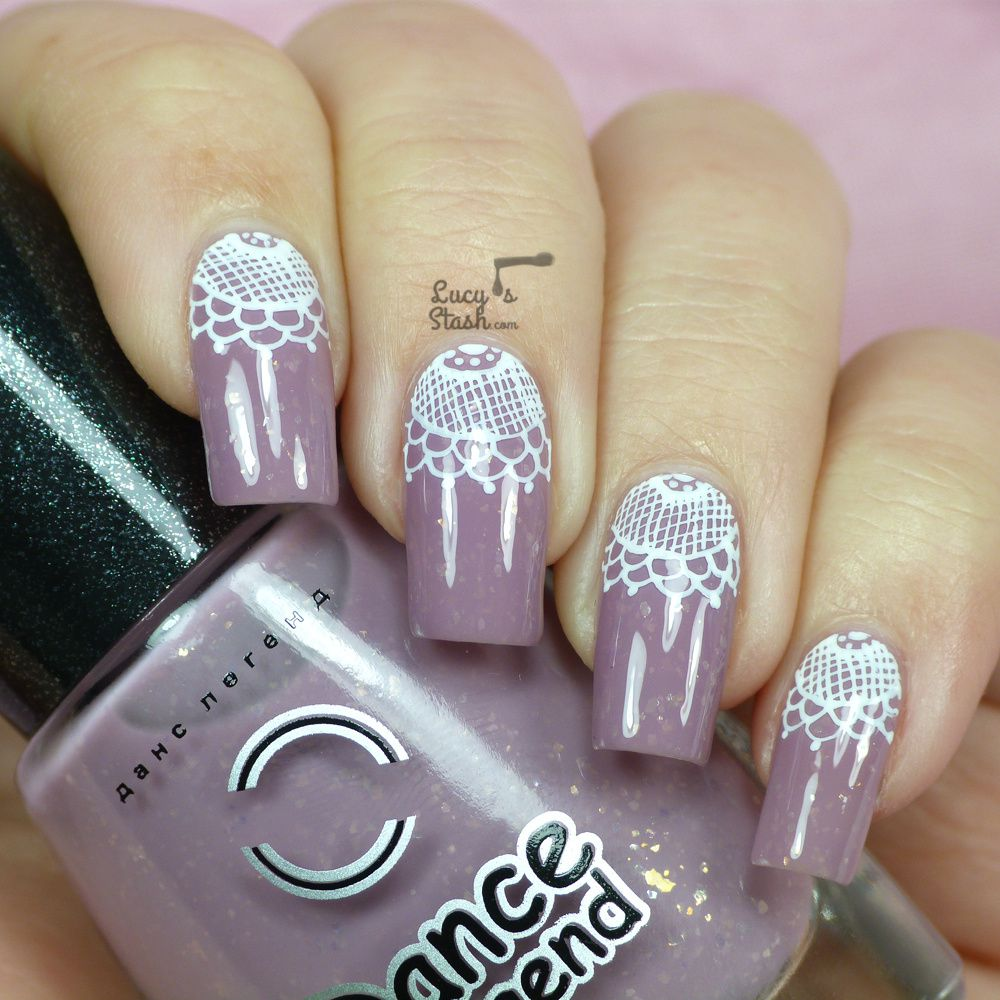 lace half moon nail art with tutorial lucys stash