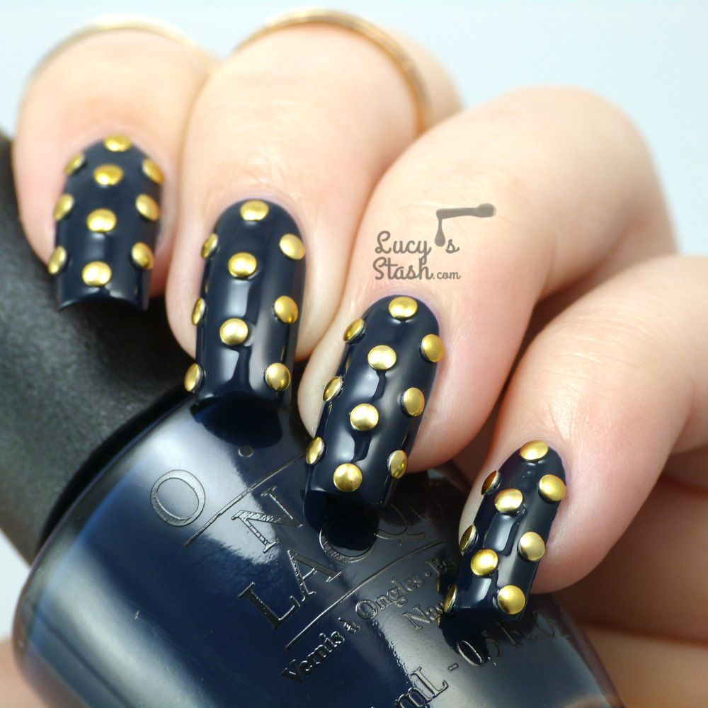 Studded nails inspired by a studded jumper :)