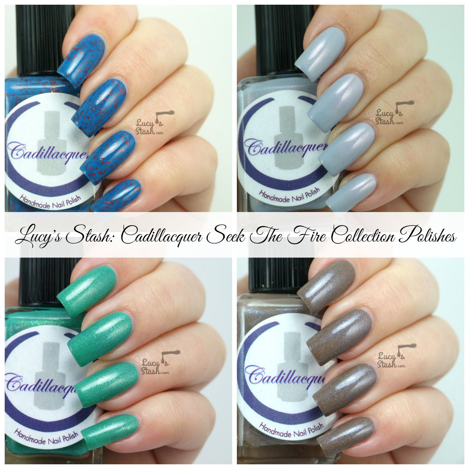 Cadillacquer Seek The Fire Collection - Review &amp&#x3B; Swatches of Four Shades