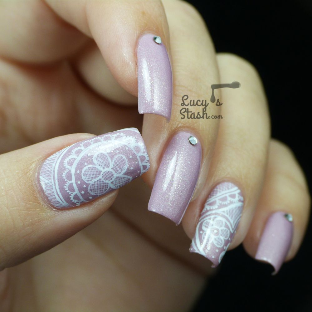 Freehand Lace Nail Art