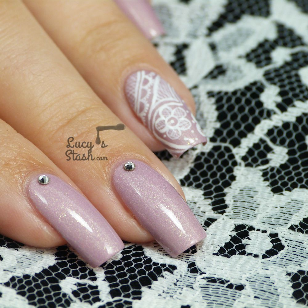 Romantic Freehand Lace Nail Art - Romantic Freehand Lace Nail Art - Lucy's Stash