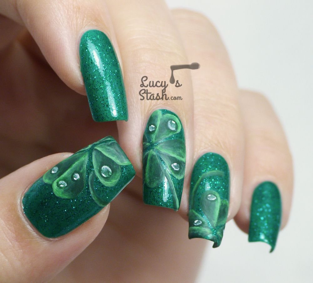 Four-Leaf Clover Nail Art for St. Patrick\'s Day - Lucy\'s Stash