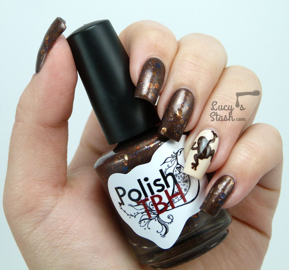 Chocolate Frog Nail Art with TUTORIAL - Lucy\'s Stash