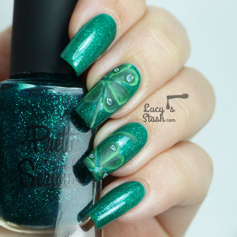 Four Leaf Clover Nail Art For St Patricks Day Lucys Stash