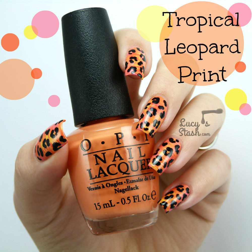 Tropical Leopard Print Design with TUTORIAL