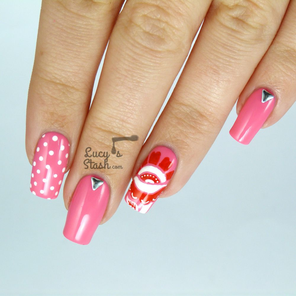 Floral Skittlette Nail Art with OPI Brazil