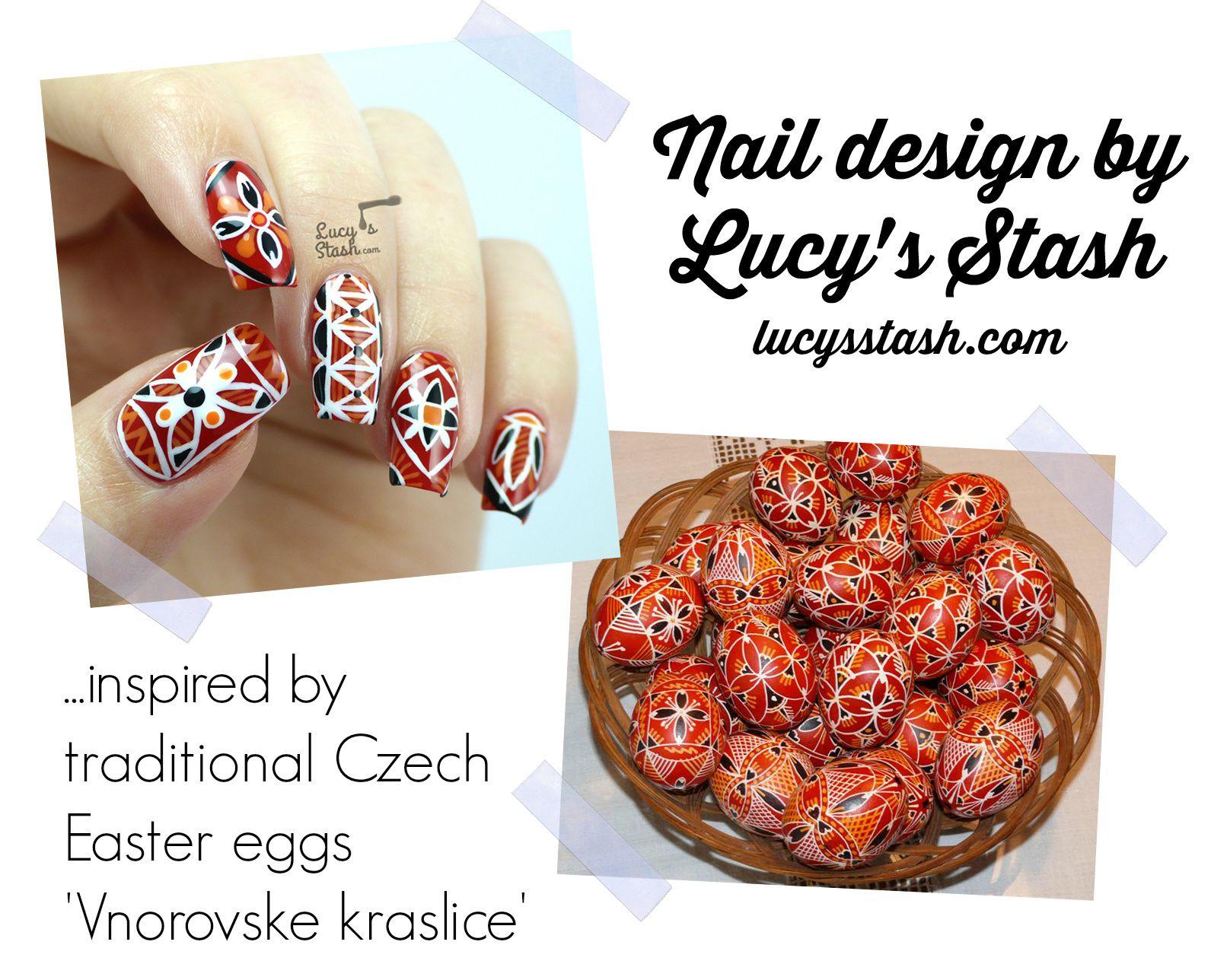 Nailvengers Assemble! - Easter Nail Art | Czech Easter Eggs inspired