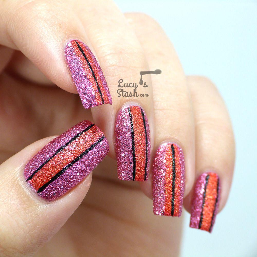 Stripy Way with Illamasqua Shattered Stars Polishes | Glamore collection