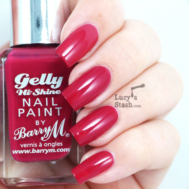 Barry M Gelly Pomegranate - Review &amp&#x3B; Swatches