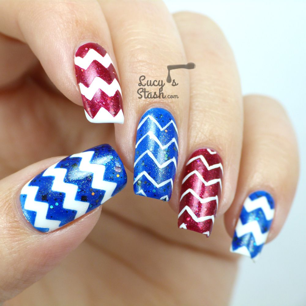 Easy Zig Zag Nail Designs ~ Nail cake zig zags floral tribal mish mash