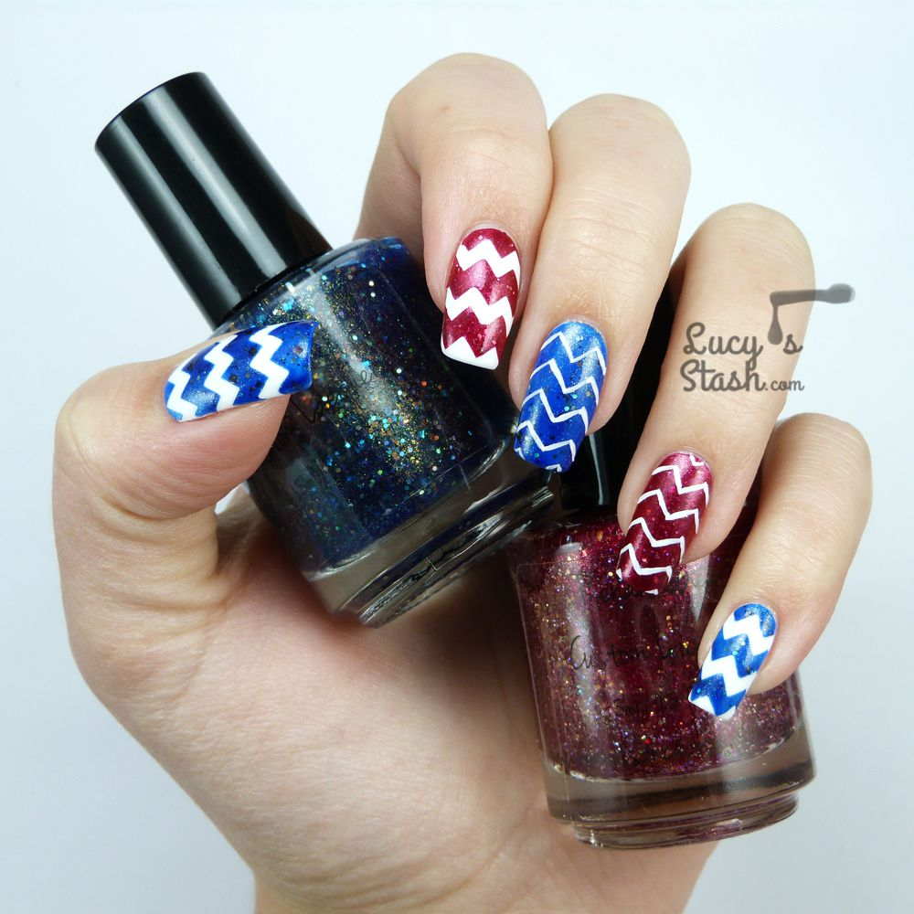 Zig-Zag Madness Nail Art With Renaissance Cosmetics And