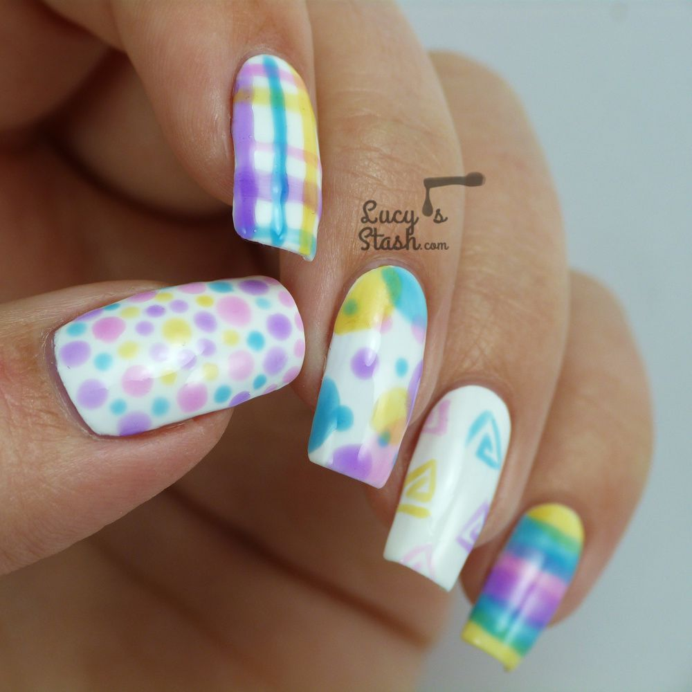 10 Nail Art Ideas with OPI Sheer Tints - Part 1 + TUTORIAL