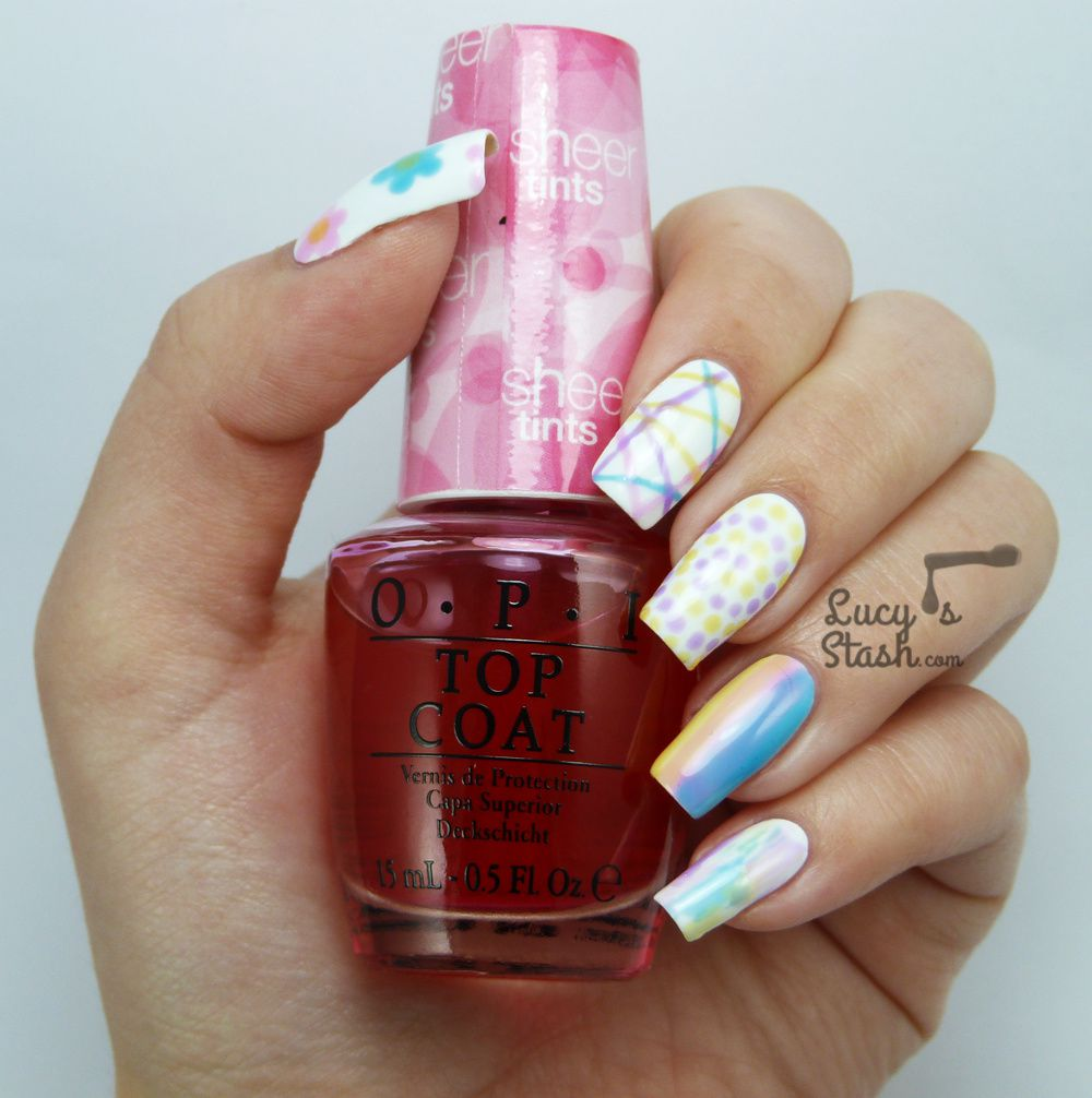 10 Nail Art Ideas with OPI Sheer Tints - Part 2 + TUTORIAL - Lucy\'s ...