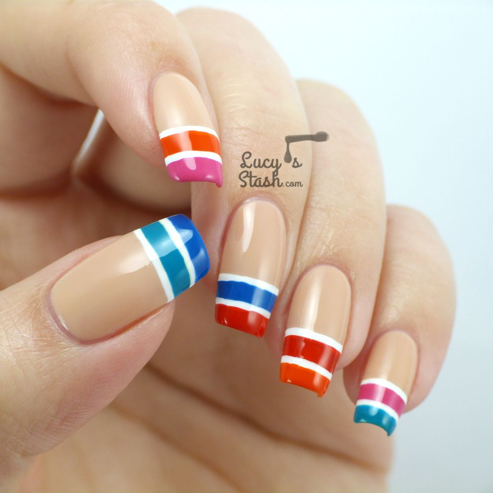 Colour-block Tip Nail Art with Rimmel London Rita Ora Line