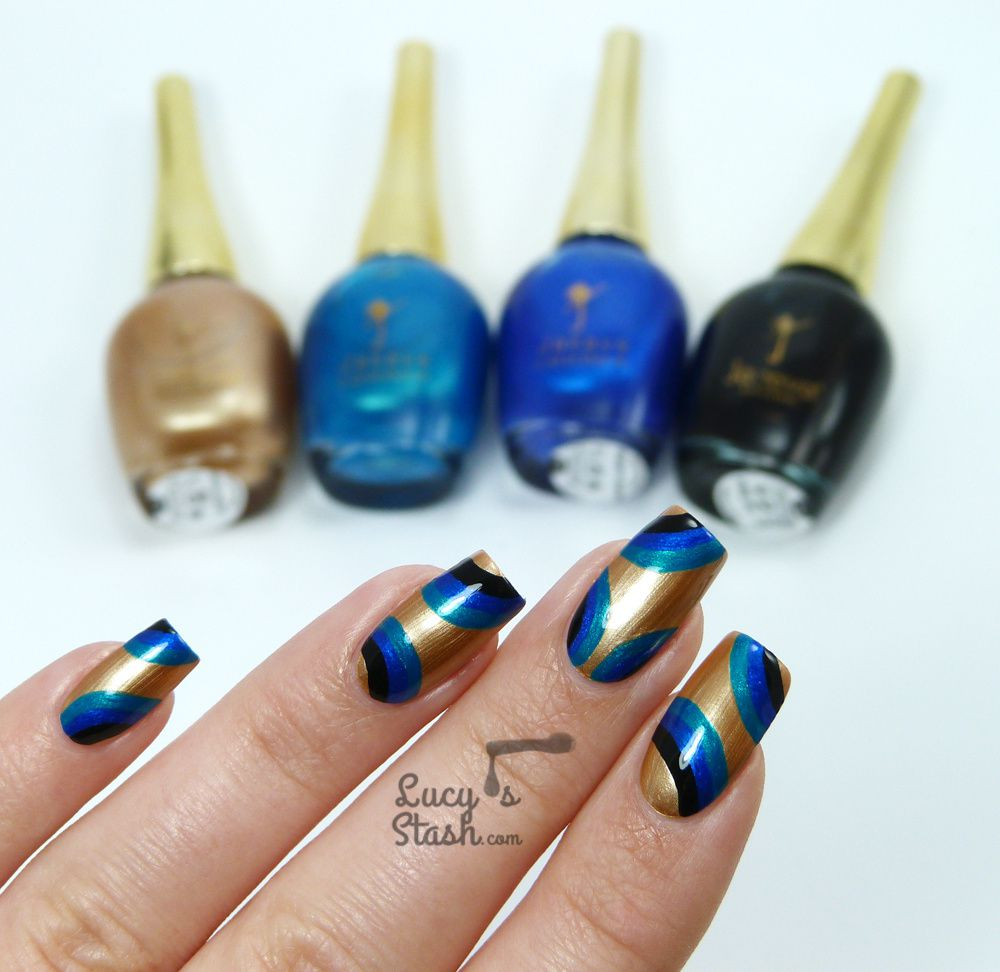 Abstract Retro Nail Art with Jacava London Polishes