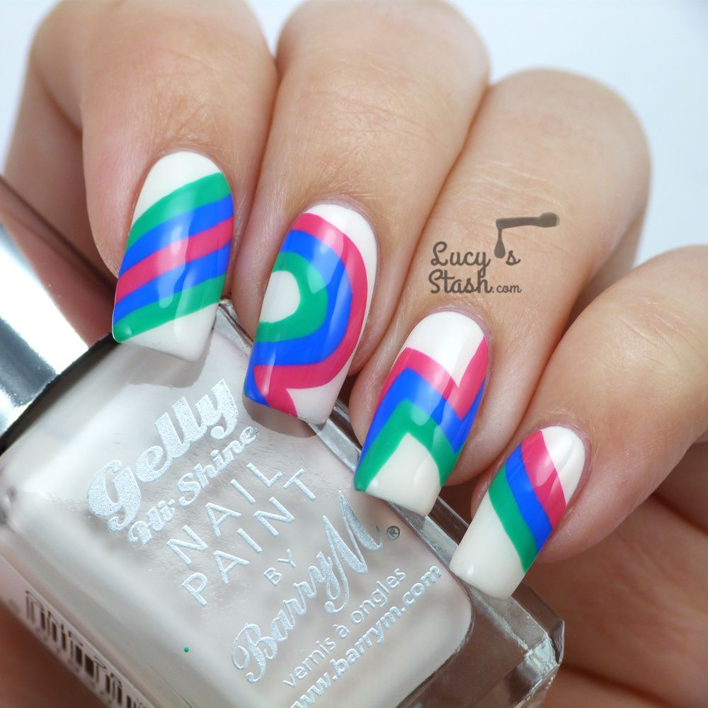 Retro Nails with Barry M Gelly Line
