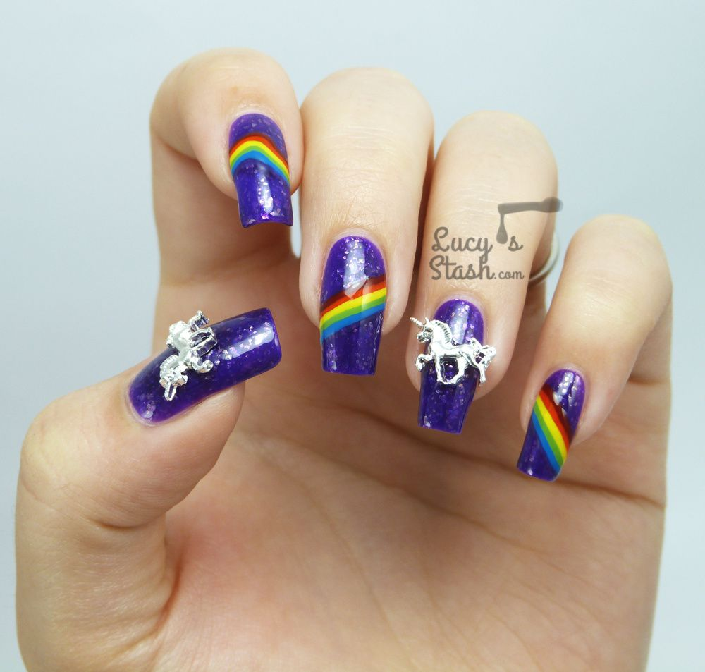 Rainbows and Unicorns Nail Art