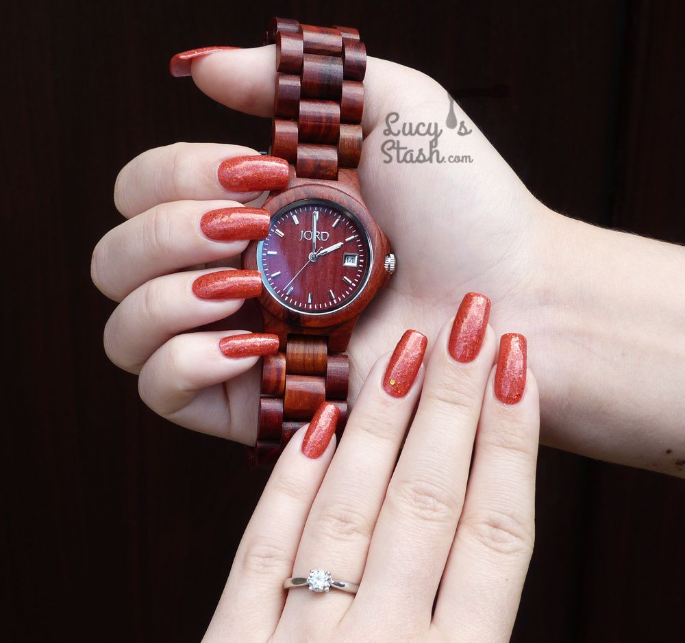 Review: Wooden Watch by JORD - Ely Cherry & GIVEAWAY (...and of course some nails ;)