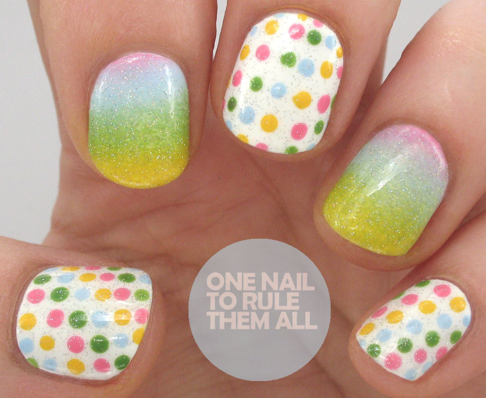 One Nail To Rule Them All for Lucy's Stash - Gradient Spots | Guest post