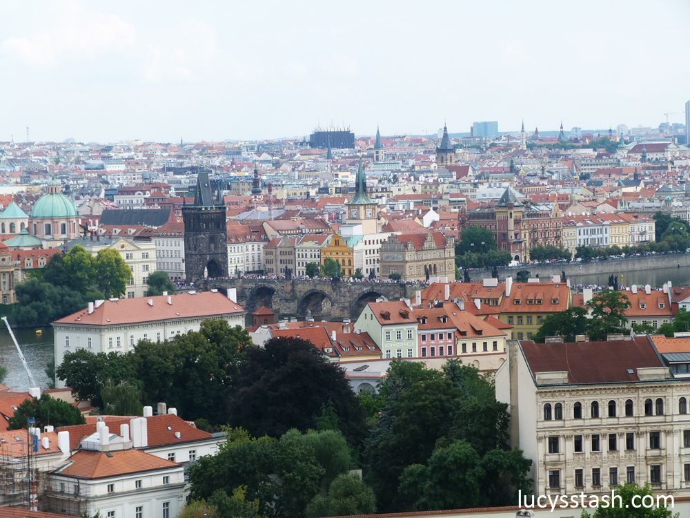 View of Prague from Prague Castle - The City of 100 Spires indeed :)
