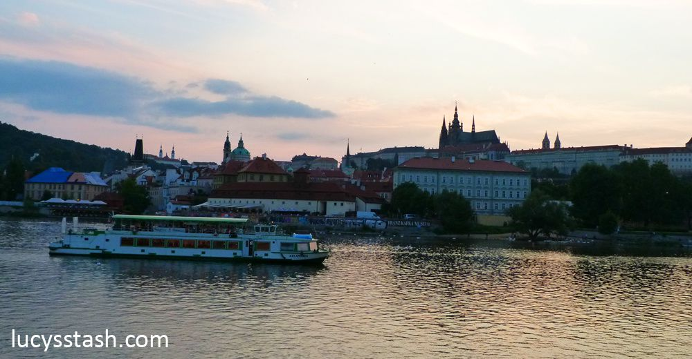 View of Prague Castle & River Vltava