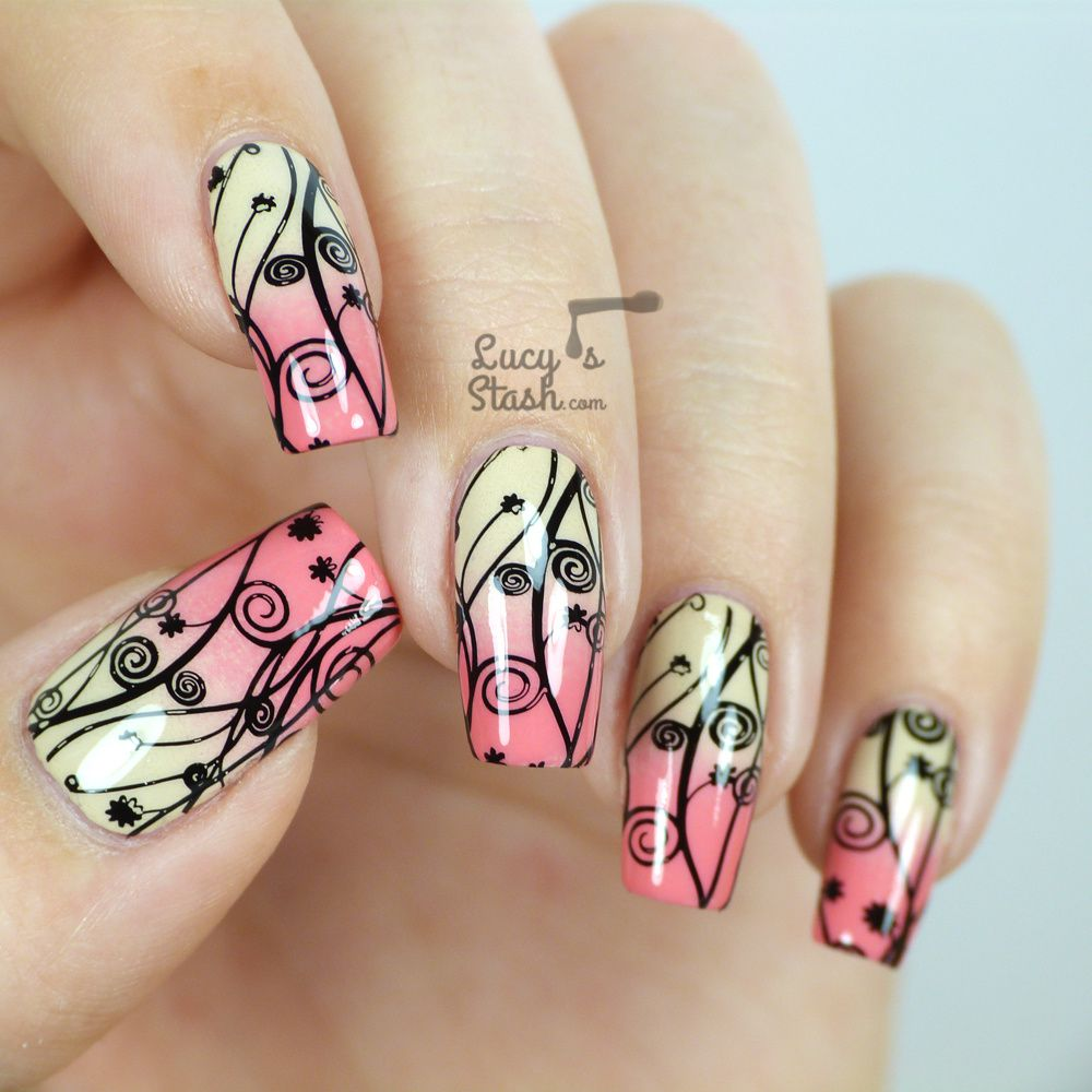 Stamped Gradient Nail Art with Video Tutorial - Lucy