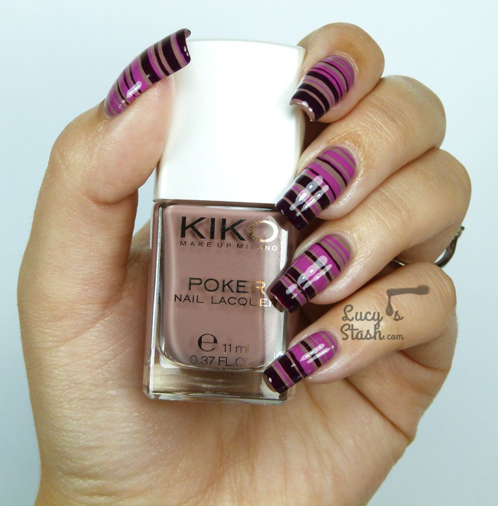 Striped Gradient Nail Art feat. KIKO Poker Nail Lacquer from Daring ...