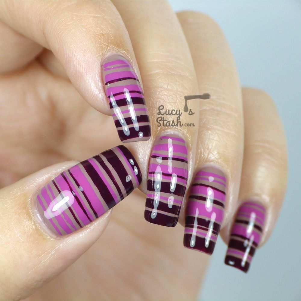 Striped Gradient Nail Art feat. KIKO Poker Nail Lacquer from Daring Game Collection