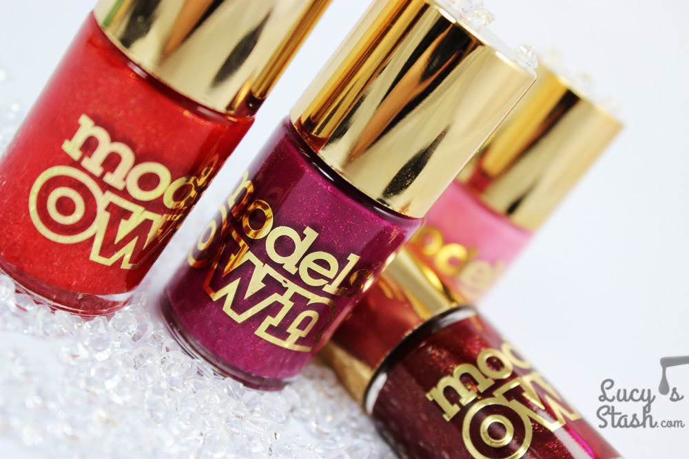 Models Own Diamond Luxe Collection polishes - Bottle shots &amp&#x3B; press release