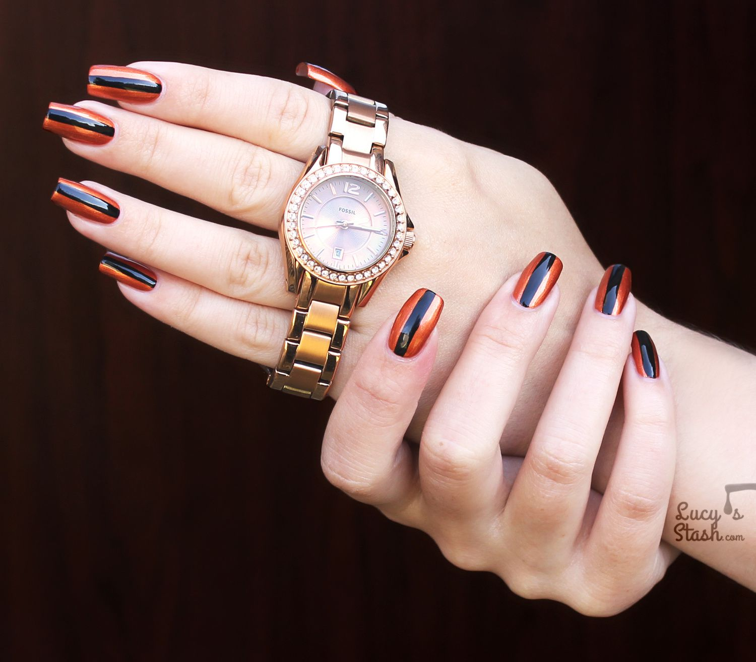 Fossil Watch Review & Chic Nail Art Design
