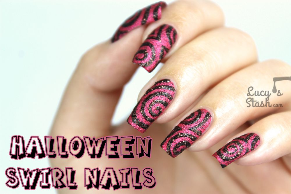 Halloween Swirl Nail Design | Textured Nail Art feat. China Glaze ...
