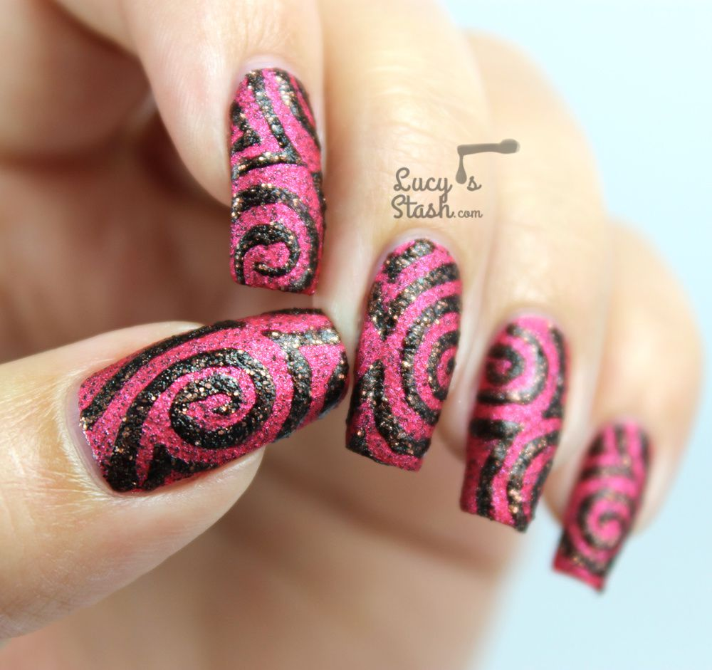 Halloween Swirl Nail Design | Textured ... - Halloween Swirl Nail Design Textured Nail Art Feat. China Glaze
