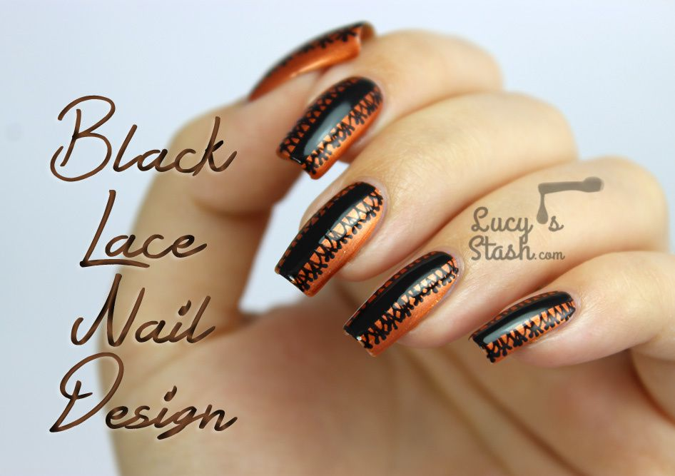 Halloween style black lace nail art design lucys stash halloween style black lace nail art design prinsesfo Image collections