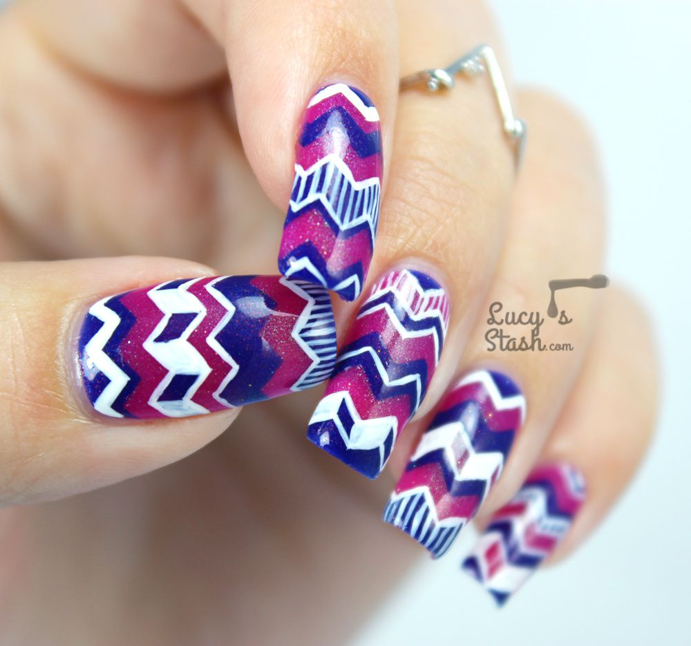 Hugs for Emily | Chevron Nail Art with Tutorial - Lucy\'s Stash