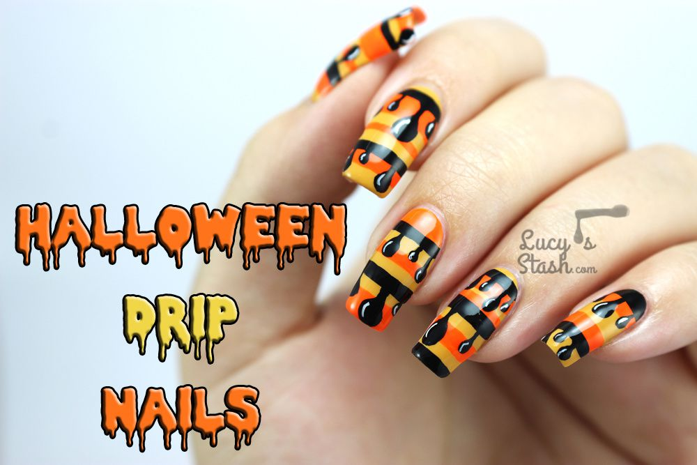 Nailvengers Assemble! - Halloween Drip Nails with TUTORIAL