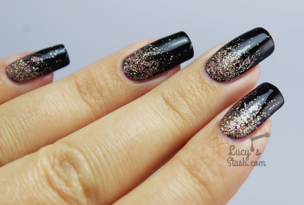 Autumn glitter gradient nail art with tutorial lucys stash autumn glitter gradient nail art prinsesfo Gallery