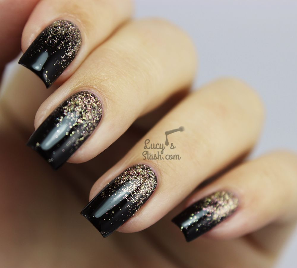 Autumn Glitter Gradient Nail Art (with tutorial) - Lucy\'s Stash