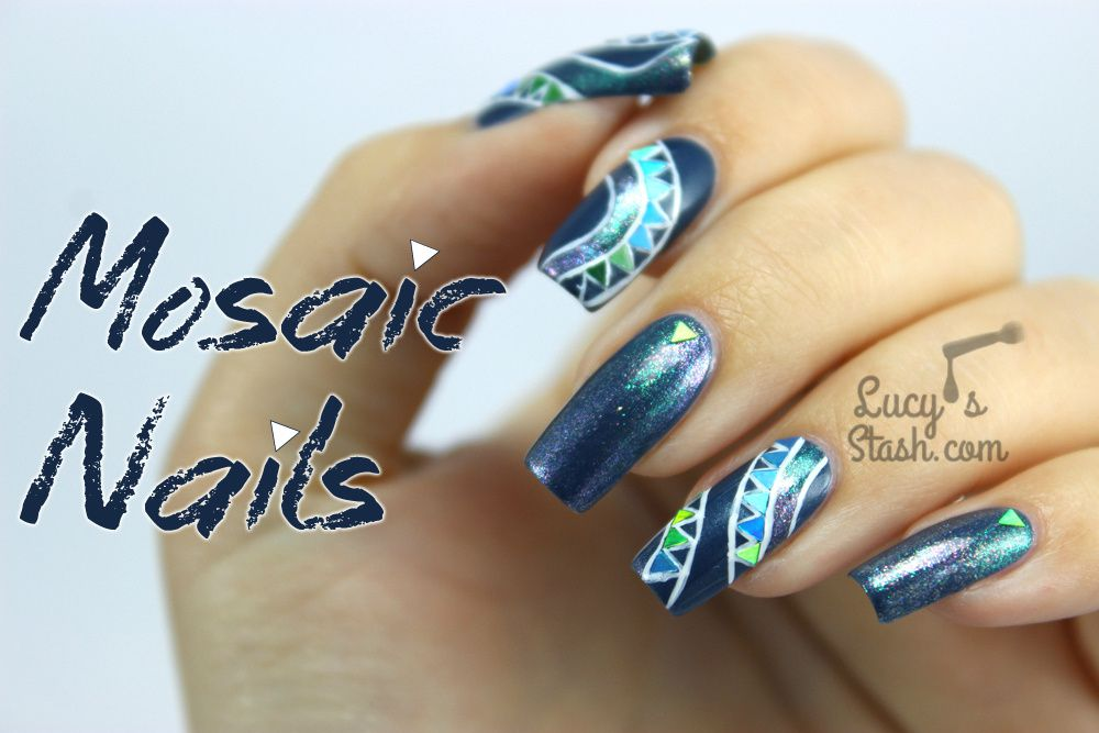 Mosaic Nails with Color Club & The Sparkly Shop!