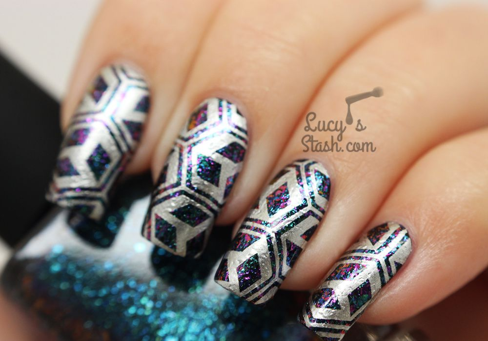 Futuristic Stamped Design feat. ILNP Multichrome Flakies