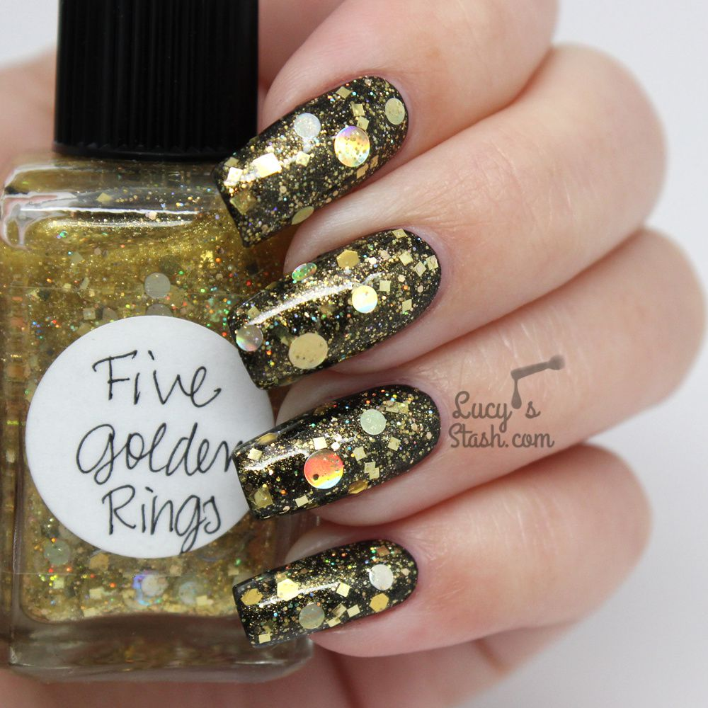 Lynnderella Five Golden Rings - Review &amp&#x3B; Swatches