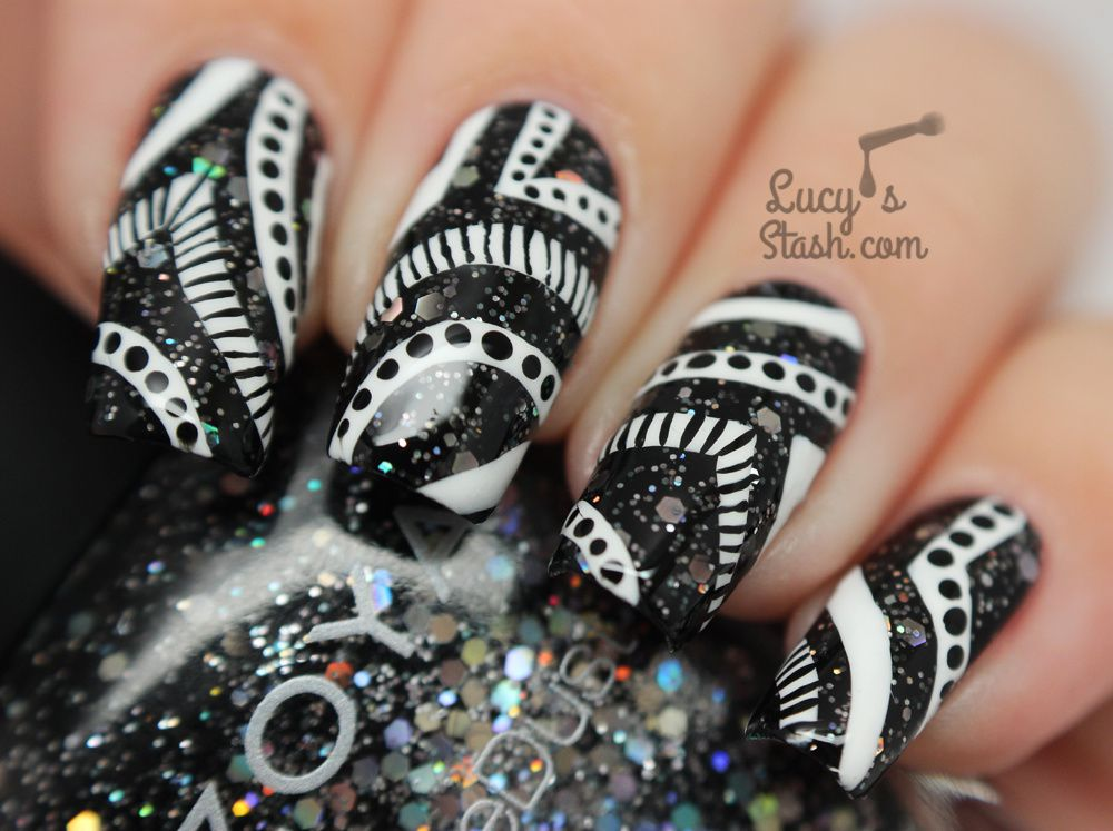 Monochrome Nail Art feat. with Zoya & Nails Supreme Pens